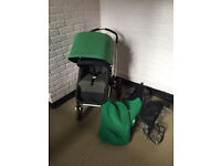 Bugaboo Cameleon Green with rain cover and carrycot