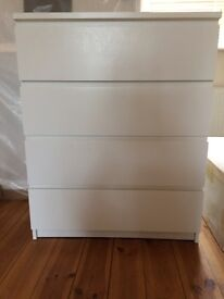Chest of 4 drawers white 30£