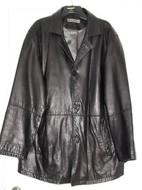 Mens Leather Jacket XXXL Nappa Leather