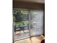 Vertical Blind floor to ceiling ideal for Patio Doors. Fantastic Condition. 231cm wide x 203cm drop