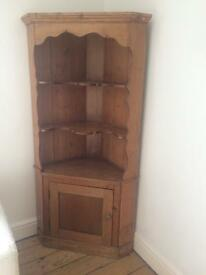 Antique wooden corner unit