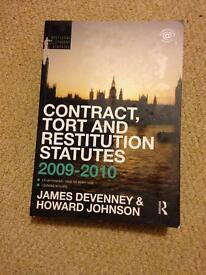 Text book- Contract, Tort and Restitution Statutes