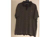 Men's Brown stripe Ralph Lauren polo shirt