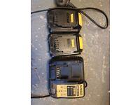 dewalt batterys and charger