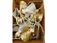 Brand New boxed angel Christmas lights - gold and white