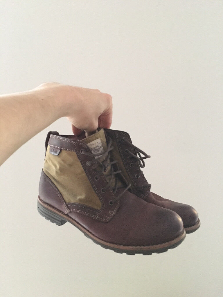CLARKS Men Boots MIDFORD DRILL size 8G Brown
