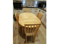 Dining Table and 4 Chairs - REDUCED
