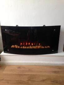 Electric fire high low temp comes with remote