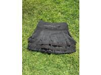 Karen Millen Black Silk Summer Skirt Size 8