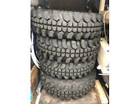 4x Off road tyres on Jimny wheels 205/70 R15