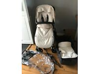 Bugaboo Chameleon 3 buggy/pram/pushchair in cream, grey & black