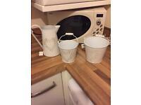 Vintage jug and bucket set