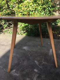 BEAUTIFUL ORIGINAL 1960s ERCOL BLONDE DINING TABLE & CHAIRS