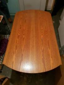 Round fold down table