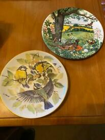 Bird themed decorative plates x 2. £5 each or both for £8.