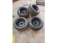 Weller wheels not alloys 13 inch 8j steelies deep dish not banded steels 4x100 4x108 multifitment