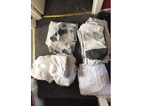Job Lot Kingsize bedding duvet covers 100% cotton sheets
