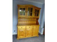 Solid Pine Farmhouse Kitchen Glazed Welsh Dresser