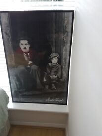 Charlie Chaplin The Kid Vintage Wall Art Poster Very Large Frame L93 x W63 cm