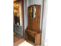 Art Deco Hall/Coat Stand , original handles , drawer and mirror. Size - W 89cm D 20cm H 188cm