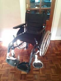 Wheelchair self propelled Invacare make fold flat