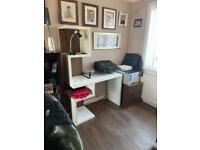 White narrow desk by NEXT home furniture
