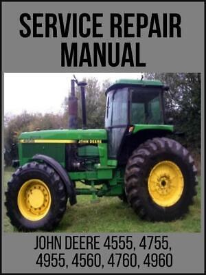 John Deere 4555 4755 4955 4560 4760 4960 Tractor Operation Test Manual Tm1461