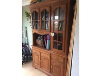 REMOVED PENDING COLLECTION Wooden bureau glass cheap sideboard