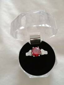 I have one 925 silver I have one 925 silver from Italy . The stone is cz ruby ring