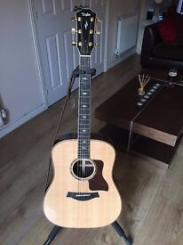 Taylor First Edition 800 Series 810e Dreadnought With Case, Certificate And Strap.