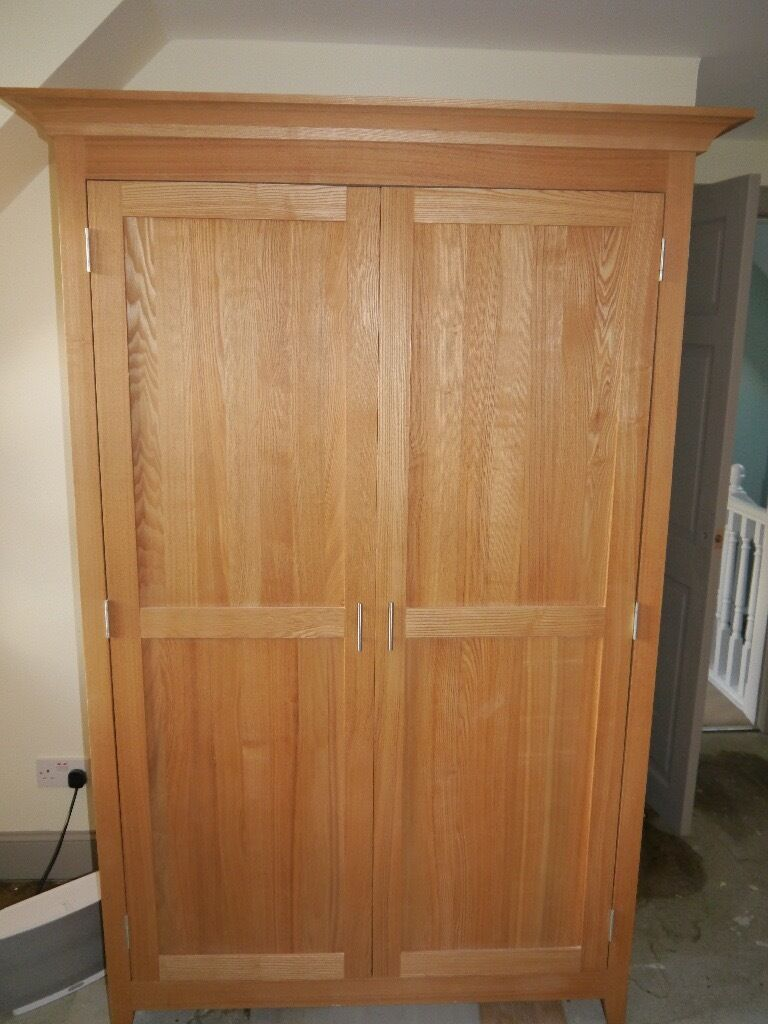 Lovely Oak Double Wardrobe