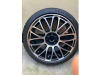 Fiat Abarth alloy with tyre