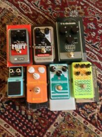 Catalinbread, mr black, ehx, tc electronic, pedals analog, tape delay, fuzz, overdrive, chorus