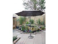 Large, boxed as new, beautiful garden parasol
