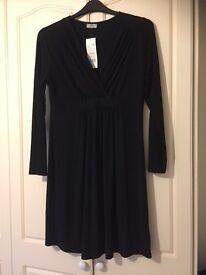 Black maternity dress size 14 (brand new )