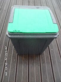 50 litre 'Wham' recycling bin, with green flip lid