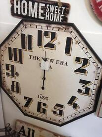 Large Industrial Clock and mantle clock !!