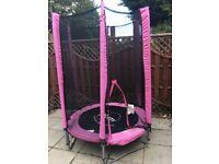 Pink trampoline 4.5FT
