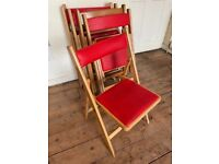 Garden or Dining folding chairs x6