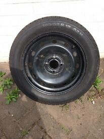 Clio spare wheel and tyre in good condition. 185/55 R15 82H