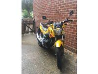 Honda CB125F Yellow with 3316 miles