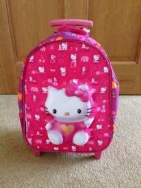 Hello Kitty Hand Trolley & Backpack