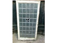 20 X 1920'S LEADED LIGHT.STAINED GLASS WINDOW FRAMES
