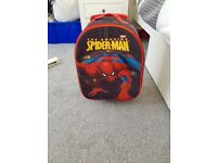 Child's Spider-Man suitcase & wash bag