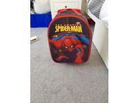 Child's Spider-Man suitcase & wash bag
