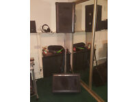 2 x 200w suitcase speakers and stand