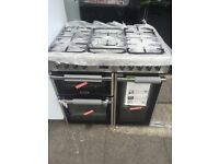 Ex display leisure 90 cm duel fuel cooker