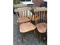 Retro / Vintage / Pine Country Cottage Dining Chairs x5 (Great upcycle /shabby chic project!)