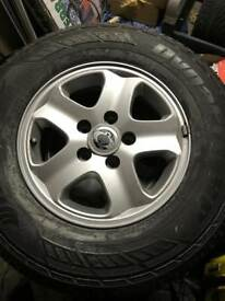 Ssangyong Rexton II Alloy wheels and tyres