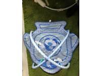 Blue play mat